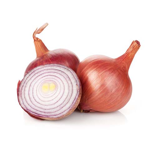 20619075 - fresh ripe red onion. isolated on white background