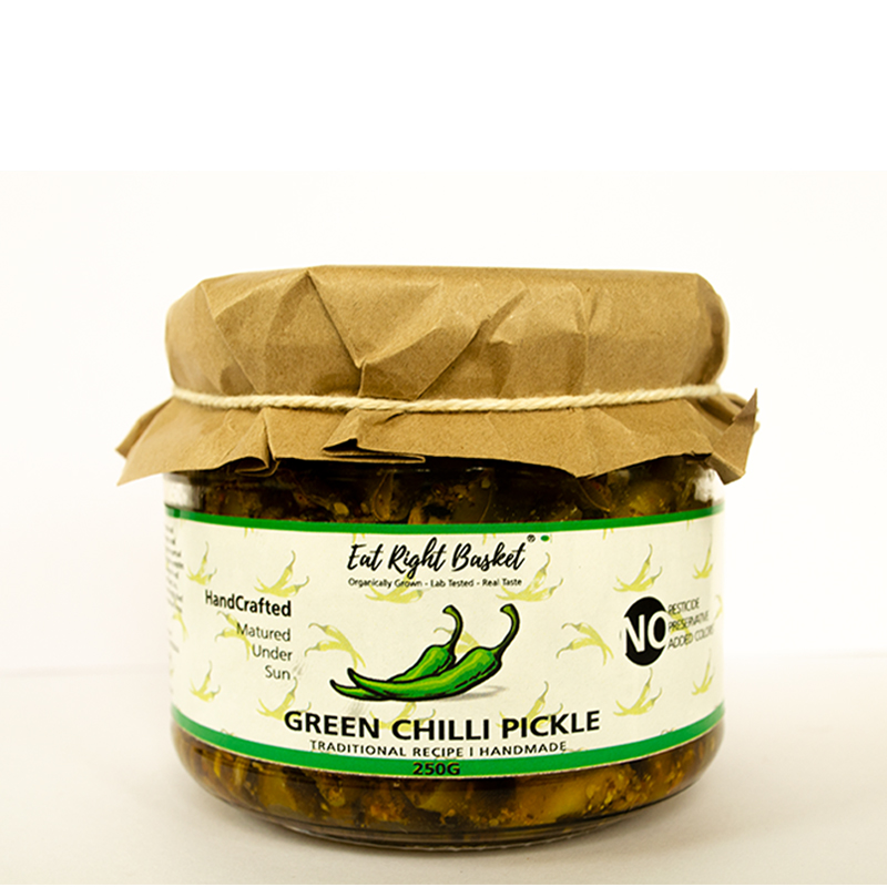 GREEN CHILLI PICKLE FRONT