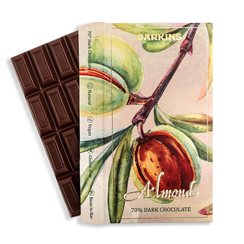 Almond Dark chcocolate 70% front